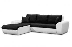Yvette - ľavý roh (savana black pvc white)