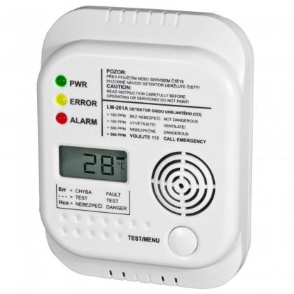 Zabezpečovací systém Autonómne detektor ELEKTROBOCK CO LM-201A