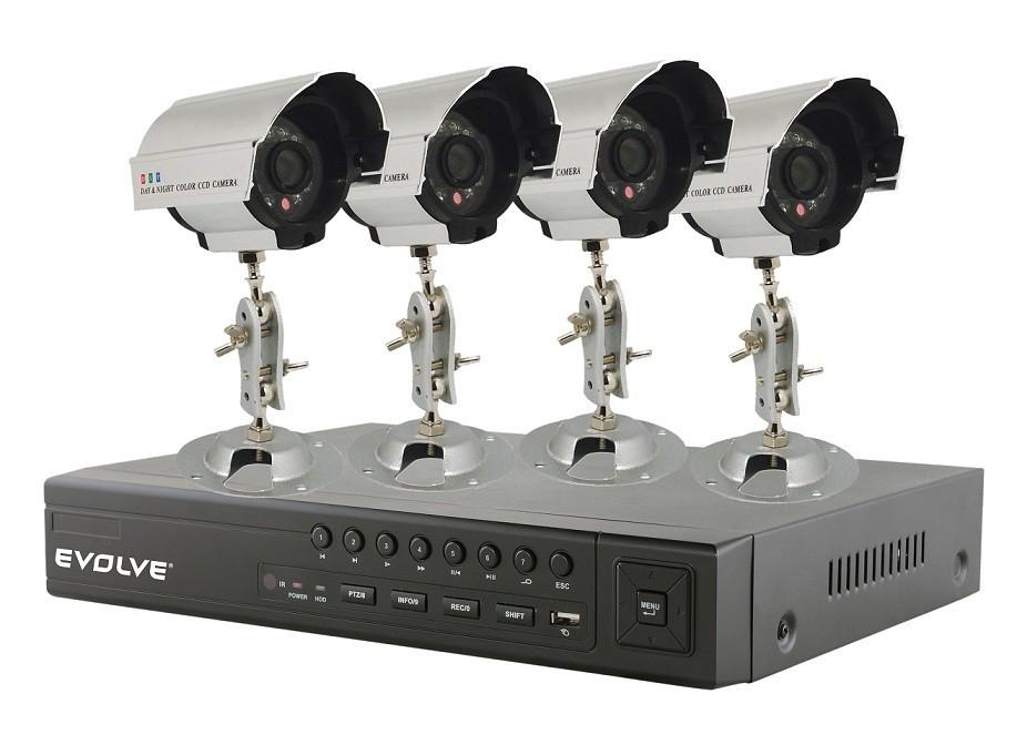 Zabezpečovací systém EVOLVEO Detective S4C, DVR bezpečnostný monitorovací systém, 4 x