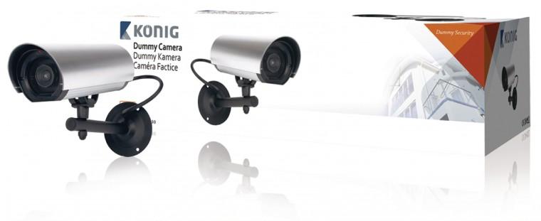 Zabezpečovací systém Kamera vonkajšia atrapa - König (SAS-DUMMYCAM10)