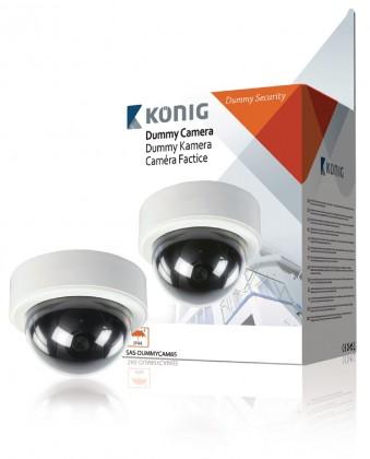 Zabezpečovací systém König atrapa kopulovité kamery (SAS-DUMMYCAM65) ROZBALENÉ