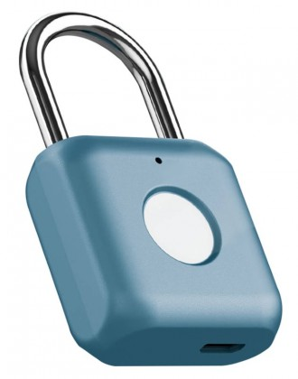Zabezpečovací systém Visiaci zámok s odtlačkom prsta UODI 3036863, modrý