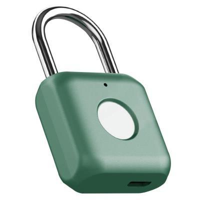 Zabezpečovací systém Visiaci zámok s odtlačkom prsta UODI 3036865, zelený