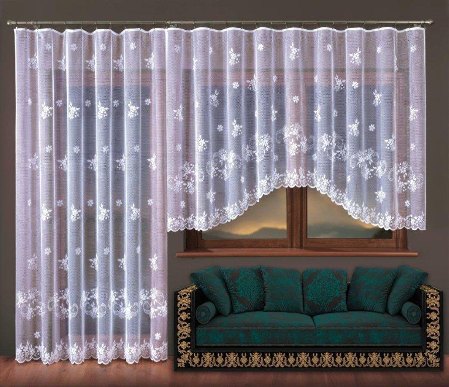 Záclona Květuše (300x150 + 200x250)