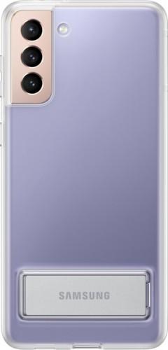 Zadný kryt na Samsung S21 Plus, integrovaný stojanček,priehľadný