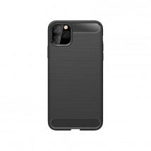 Zadný kryt pre Apple iPhone 11 Pro, karbón, čierna POŠKODENÝ OBAL
