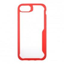 Zadný kryt pre Apple iPhone 7/8, priehľadná/červená, ROZBALENO
