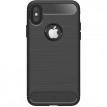 Zadný kryt pre Apple iPhone XR, karbón, čierna