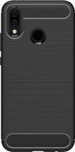 Zadný kryt pre Honor 10 Lite/Huawei PSmart 2019, karbón, čierna