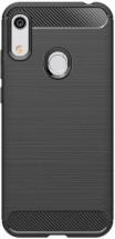 Zadný kryt pre Honor 8A/Huawei Y6S, karbón, čierna