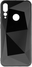 Zadný kryt pre Huawei Nova 4, 3D prismatic, čierna