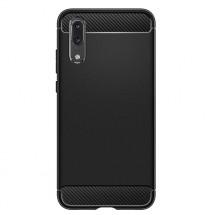 Zadný kryt pre Huawei P20, karbón, čierna