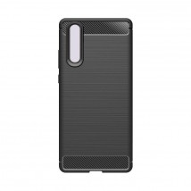Zadný kryt pre Huawei P30, karbón, čierna