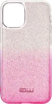 Zadný kryt pre iPhone 12/12 Pro, Rainbow, ružovo/strieborná
