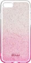 Zadný kryt pre iPhone 7/8/SE (2020), Rainbow, ružovo/strieborná