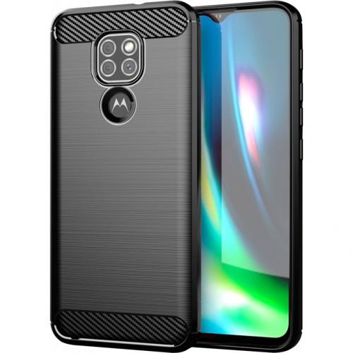 Zadný kryt pre Motorola Moto G9 Play, Carbon, čierna