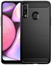 Zadný kryt pre Samsung Galaxy A20s, Carbon, čierna