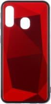 Zadný kryt pre Samsung Galaxy A40, 3D prismatic, červená