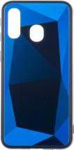 Zadný kryt pre Samsung Galaxy A40, 3D prismatic, modrá