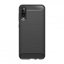 Zadný kryt pre Samsung Galaxy A50, karbón, čierna