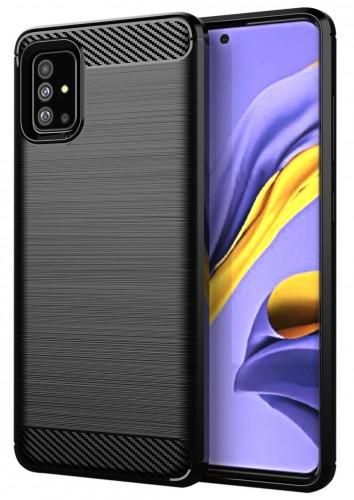 Zadný kryt pre Samsung Galaxy A51, Carbon, čierna