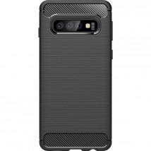 Zadný kryt pre Samsung Galaxy S10, karbón, čierna