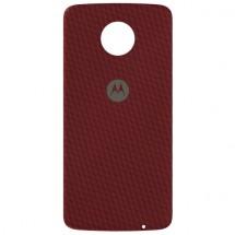 Zadný kryt pro Motorola Moto Z, červený kevlar, ROZBALENO