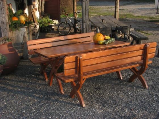 Záhrada ZLACNENÉ Stôl Strong masiv (drevo) - II. akosť
