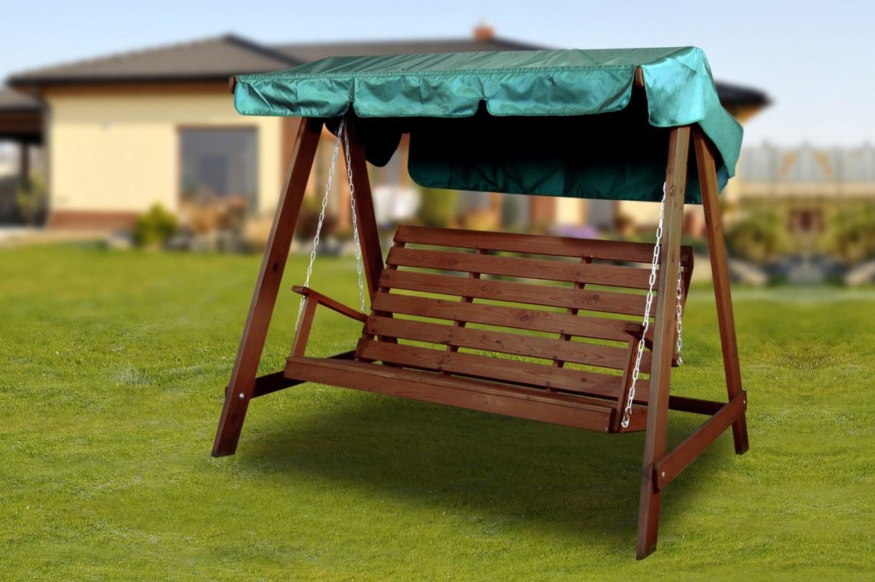 Záhradná hojdačka Swing 150 - Hojdacia lavica (orech)