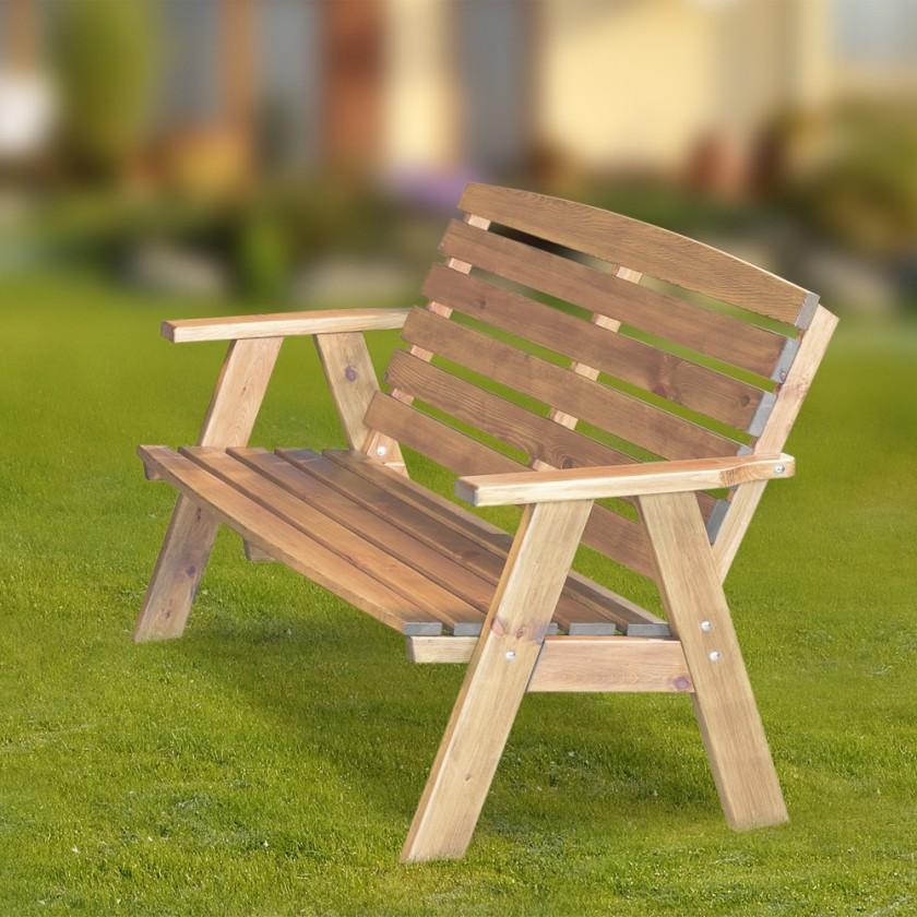Záhradná lavička Cordoba - Lavice (prírodné bez povrchovej úpravy)