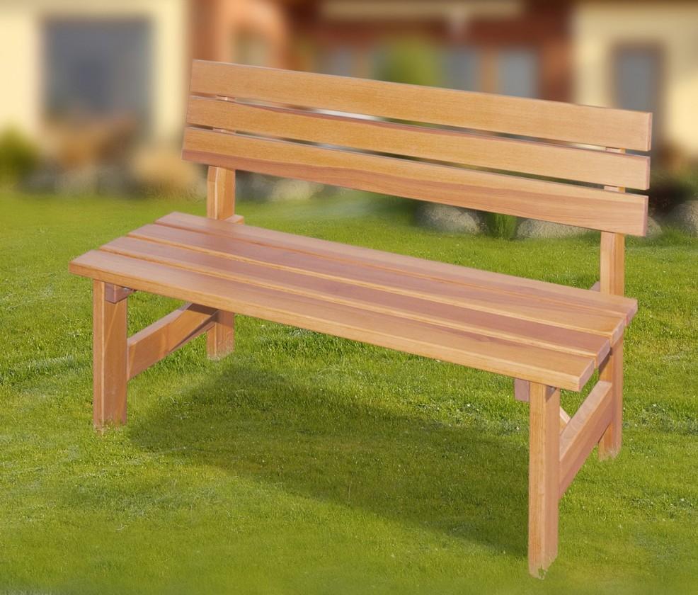 Záhradná lavička Porto - Lavice (prírodný - bezfarebne impregnované)