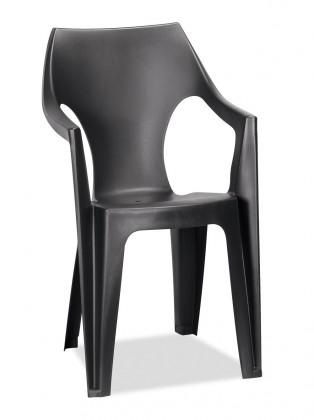 Záhradná stolička Dante - Stolička, highback (čierna)