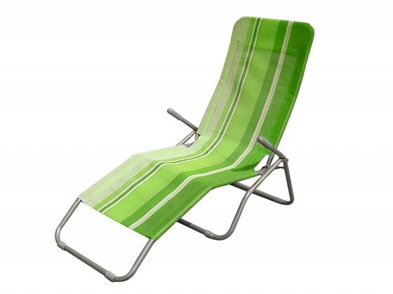 Záhradné lehátko Plážové ležadlo (zelený pruh)