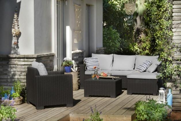 Záhradný set Maatea - Záhradná sedacia súprava (grafit/sivá)