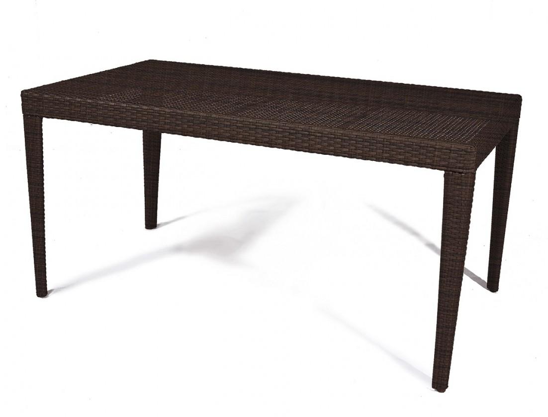 Záhradný stôl Dallas - Jedálenský stôl, 150x80 cm (hnedá)