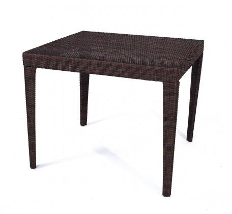 Záhradný stôl Dallas - Jedálenský stôl, 90x90 cm (hnedá)