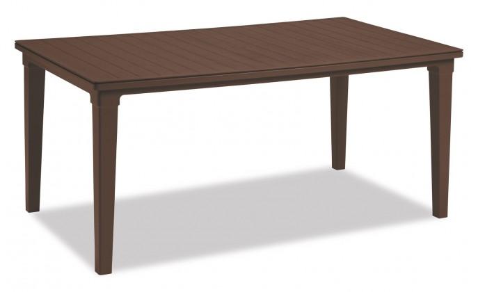 Záhradný stôl Futura - Stôl (hnedá)