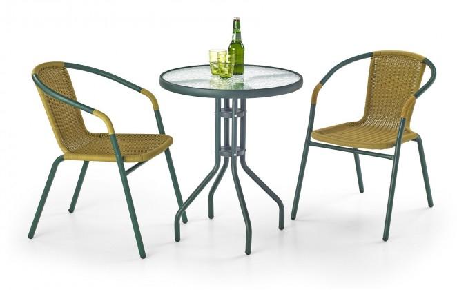 Záhradný stôl Grand 60 (tmavo zelený)