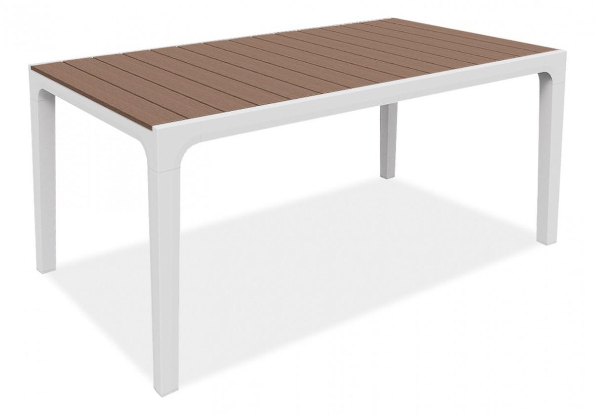 Záhradný stôl Harmony - Stôl (biela, cappuccino)