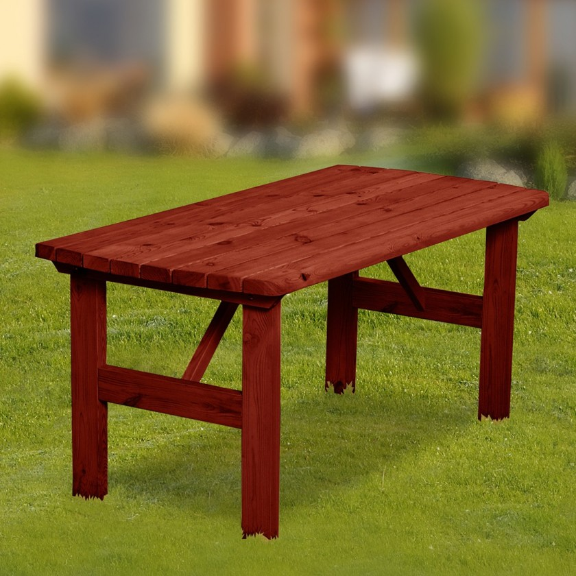 Záhradný stôl Mallorca - Stôl (mahagón)