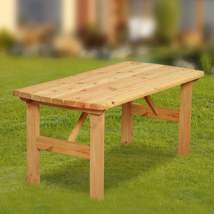 Záhradný stôl Mallorca - Stôl (prírodný - bezfarebne impregnované)