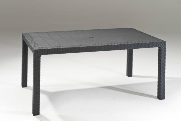 Záhradný stôl Melody - Stôl, 161 cm (graphite)