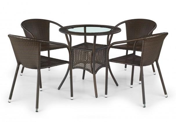 Záhradný stôl Midas (tmavo hnedý)