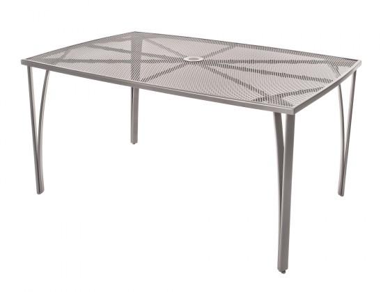 Záhradný stôl Oceľový záhradný stôl 150x90 cm (sivá)