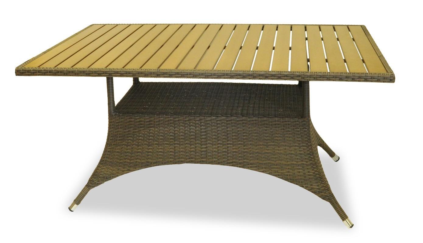 Záhradný stôl Rimini - Jedálenský stôl (hnedá)
