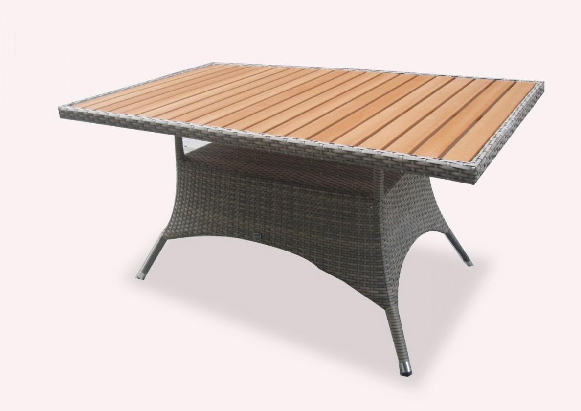 Záhradný stôl Rimini - jedálenský stôl (sivá)