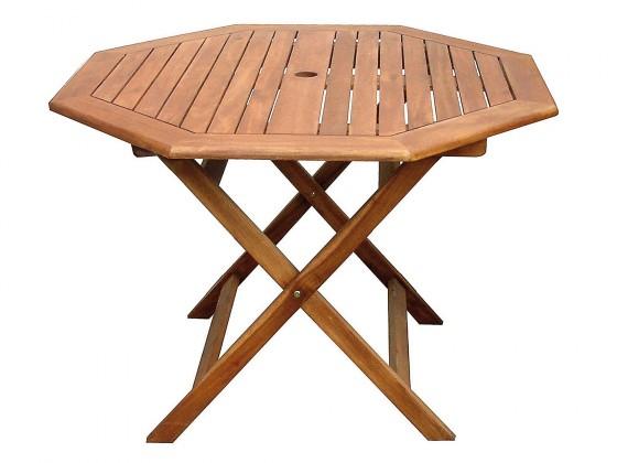 Záhradný stôl Stôl vícehranný Acacia (prírodná)