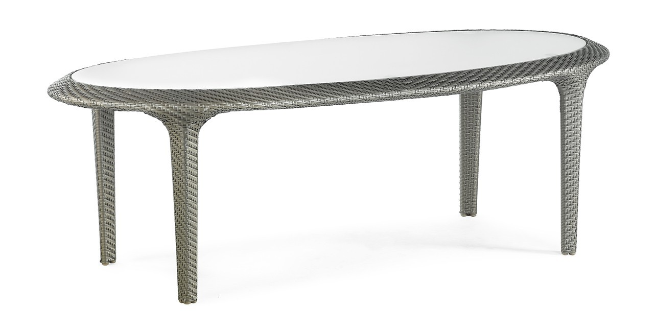 Záhradný stôl Sullivan Island - Jedálenský stôl (strieborná)
