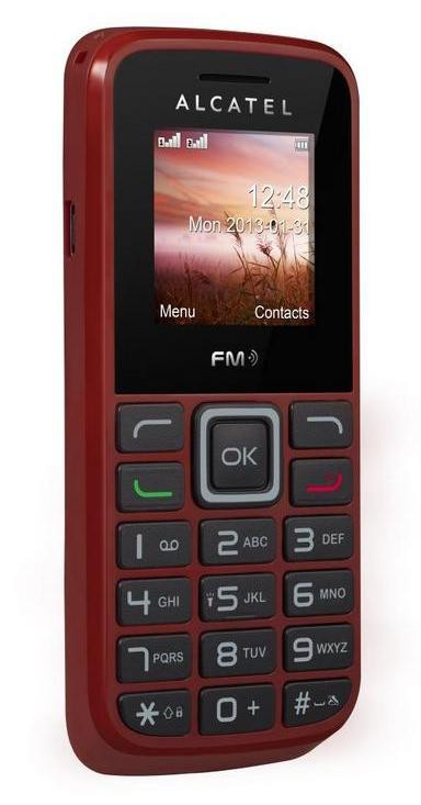 Základný telefón  Alcatel One Touch 1010D Deep Red