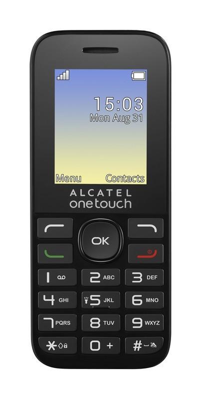 Základný telefón ALCATEL ONETOUCH 1016G Black POUŽITÝ, NEOPOTREBOVANÝ TOVAR